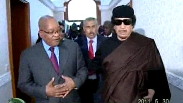 Jacob Zuma and Col Gaddafi