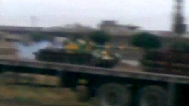 Tanks said to have been seen in Talbisa on the weekend