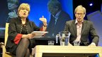 Political columnist Polly Toynbee with David Walker