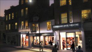 Artist&#039;s impression of expanded Arts Theatre in Cambridge