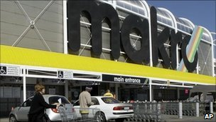 A branch of Makro, part of the Massmart chain