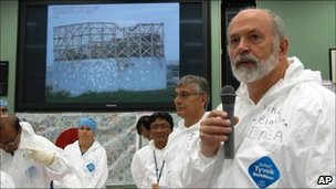 May 27, 2011 photo released by IAEA, IAEA fact-finding team leader Mike Weightman, at Fukushima 