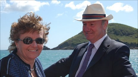 Guernsey's Lieutenant Governor Peter Walker and his wife Lynda Walker