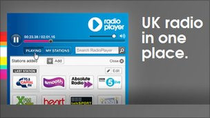 Screenshot of Radioplayer graphic