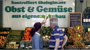 Vegetables on sale in Munich, 31 May 11
