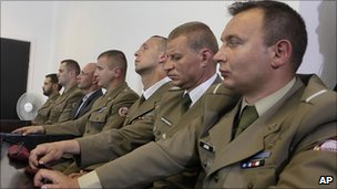 Polish troops in court, 1 June 2011