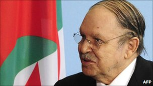 President Abdelaziz Bouteflika in December 2010
