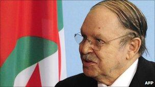 President Abdelaziz Bouteflika in December 2010