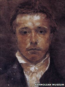 Samuel Palmer's self portrait, Ashmolean Museum, University of Oxford