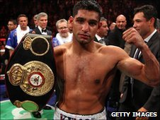 Amir Khan after fighting Paul McCloskey