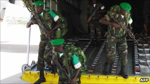 Burundian soldiers in Somalia (Archive shot December 2007)