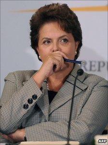Brazilian President Dilma Rousseff - file photo
