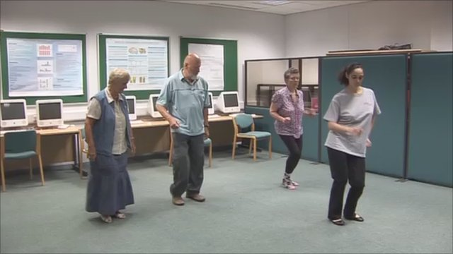 Parkinson's disease sufferers dancing