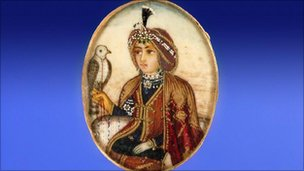 Miniature on ivory of Maharajah Duleep Singh