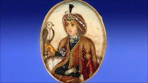 Miniature on ivory of Maharajah Duleep Singh