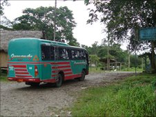 The local bus from Barrio los Andis to Agua Santos