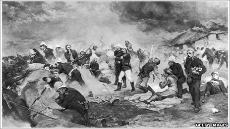 The Defence of Rorke's Drift. Photo by Hulton Archive/Getty Images