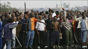 South Africa was hit by a wave of deadly xenophobic violence in 2008