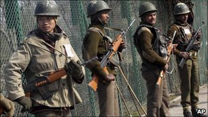 Security forces in Kashmir
