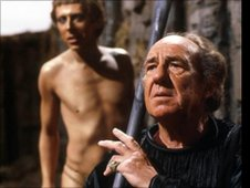 David Dixon as Ariel and Michael Horden as Prospero in The Tempest