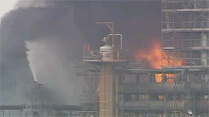 Fire at the Pembroke oil refinery in 1994