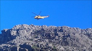 The helicopter involved in the rescue