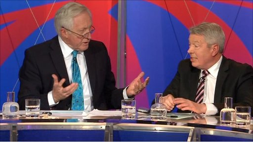 David Dimbleby and Alan Johnson
