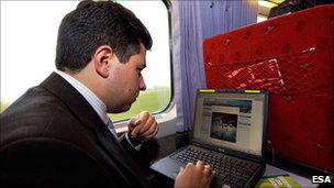 Laptop on the train (Esa)