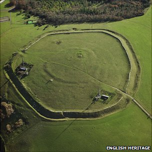 The Trundle near Chichester, Sussex is one of the first large monuments built in Britian.