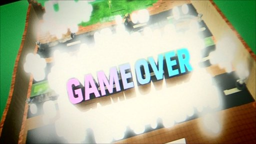 Game with Game Over on the screen