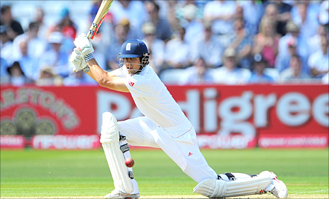 Alastair Cook drives