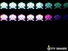 Space Invaders displayed at The Game On exhibition at the Science Museum