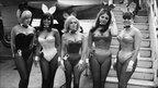 Five bunny girls at London airport, April 1966
