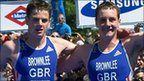 Jonathan and Alistair Brownlee in Madrid
