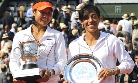 Li Na and Francesca Schiavone