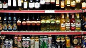 beer shelf