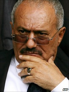 President Ali Abdullah Saleh (file image)