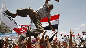 Celebrations in Sanaa. 5 June 2011