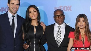 Steve Jones, Nicole Scherzinger, Antonio LA Reid and Paula Abdul
