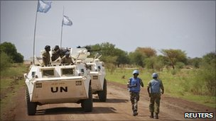 UN peacekeepers in Sudan's Abyei region - 30 May 2011