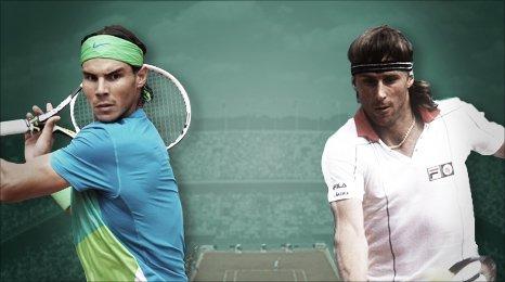 Rafael Nadal and Bjorn Borg