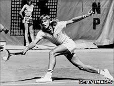 Bjorn Borg at Roland Garros in 1976