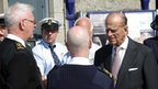 Prince Philip with members of the RNLI