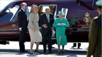 Queen and Prince Philip after arrival on St Mary's the Isles of Scilly