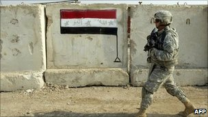 The US soldiers' role is to advise and assist Iraq's security forces in fighting insurgents