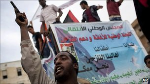 Libyan opposition forces in Benghazi