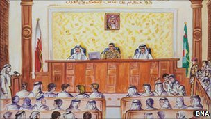 Courtroom sketch (BNA)