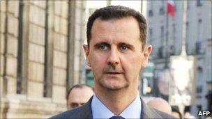 File picture of Syrian President Bashar al-Assad in Paris