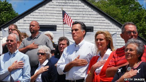 Mitt Romney, wife Ann and friends