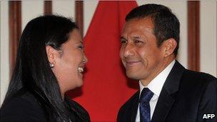 Keiko Fujimori and Ollanta Humala on 6 June 2011